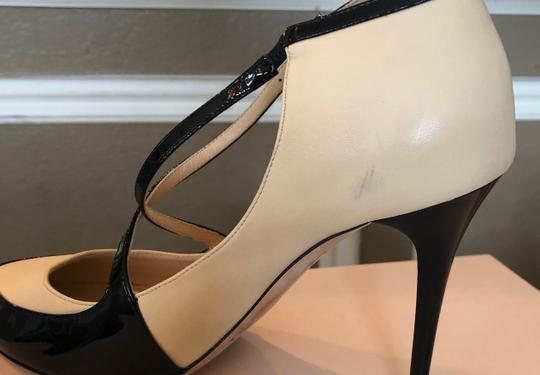Jimmy Choo Swan/Black Pumps Image 4