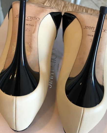 Jimmy Choo Swan/Black Pumps Image 5