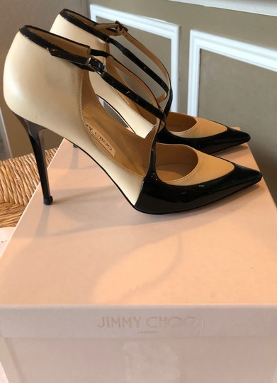 Jimmy Choo Swan/Black Pumps Image 7