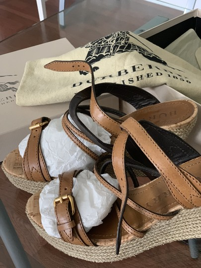 Burberry Saddle Brown Leather Sandals Image 1