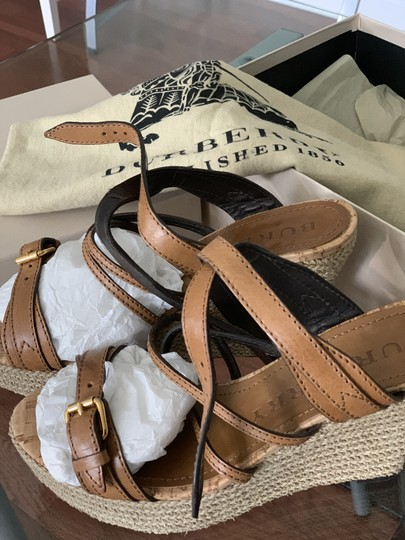 Burberry Saddle Brown Leather Sandals Image 2
