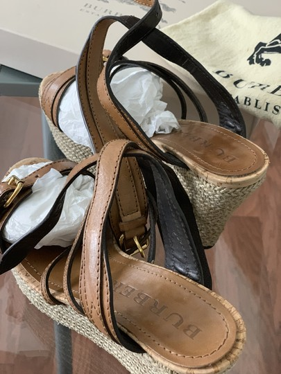 Burberry Saddle Brown Leather Sandals Image 3