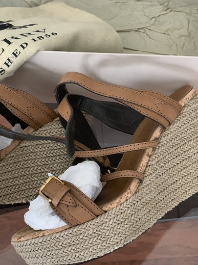 Burberry Saddle Brown Leather Sandals Image 4