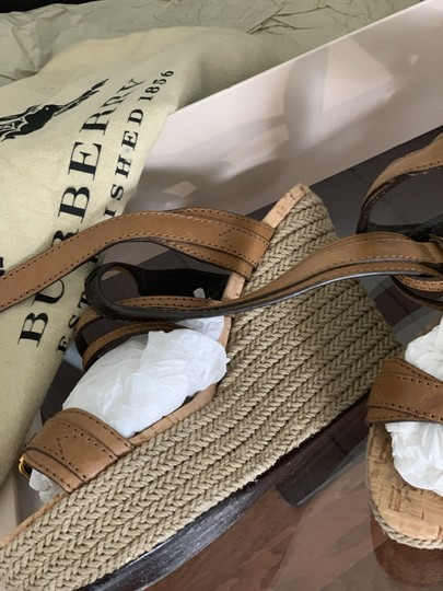 Burberry Saddle Brown Leather Sandals Image 6