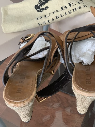 Burberry Saddle Brown Leather Sandals Image 7