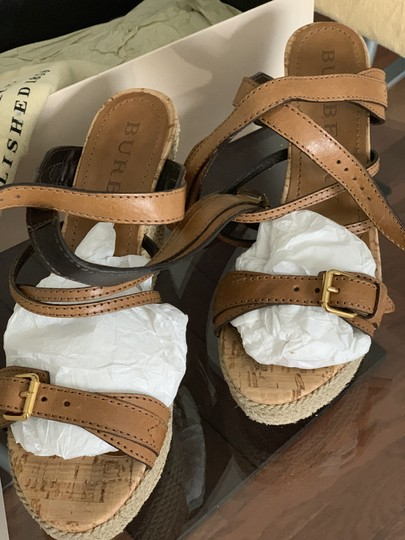 Burberry Saddle Brown Leather Sandals Image 8