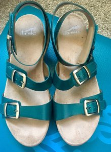 Dansko Velcro Straps Arch Support Turquoise Sandals