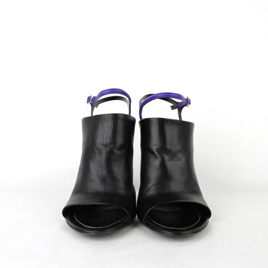 Balenciaga Leather Open Toe Heel Black Sandals Image 2
