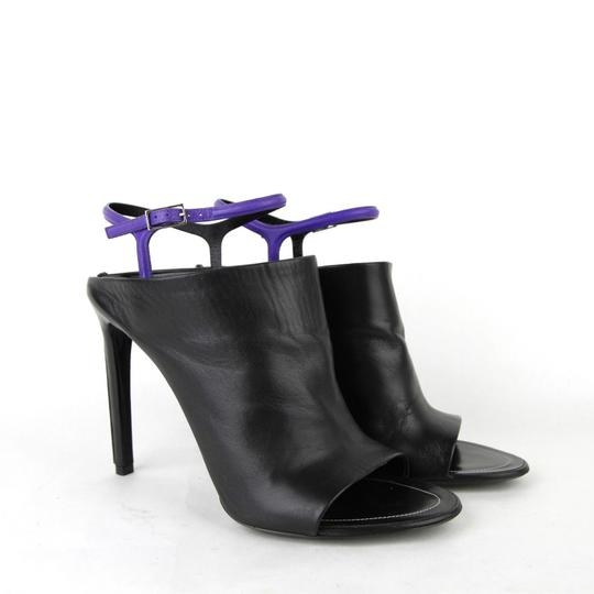 Balenciaga Leather Open Toe Heel Black Sandals Image 3
