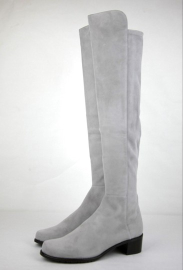 Stuart Weitzman Suede Allserve Over-the-knee Gray Boots Image 1