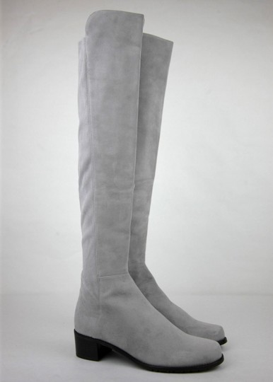Stuart Weitzman Suede Allserve Over-the-knee Gray Boots Image 3