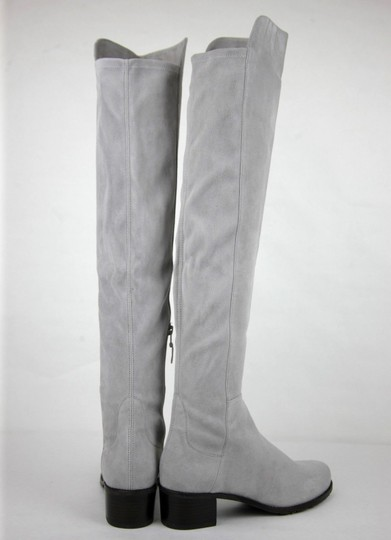 Stuart Weitzman Suede Allserve Over-the-knee Gray Boots Image 4