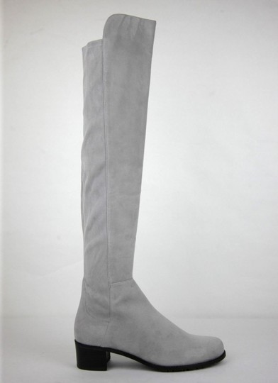 Stuart Weitzman Suede Allserve Over-the-knee Gray Boots Image 5