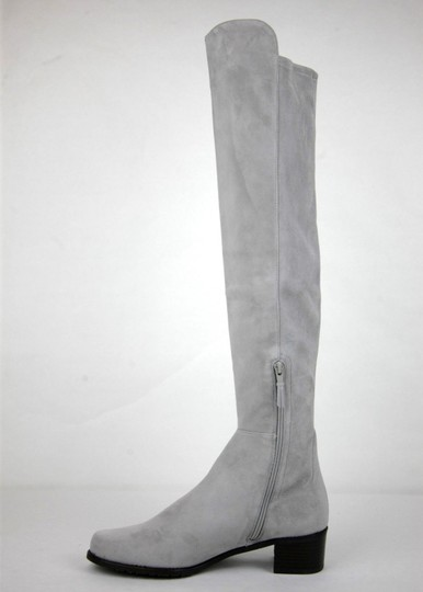 Stuart Weitzman Suede Allserve Over-the-knee Gray Boots Image 6