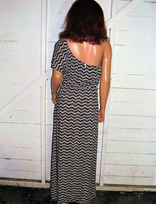 Blue/Brown Maxi Dress by Willow & Clay One Shoulder Maxi Image 5