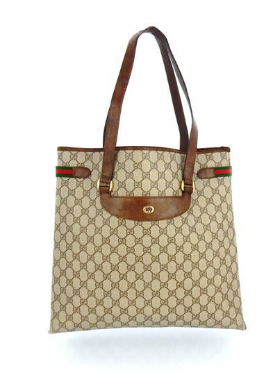 Gucci Shopper Monogram Italy Vintage Gg Shoulder Bag Image 1