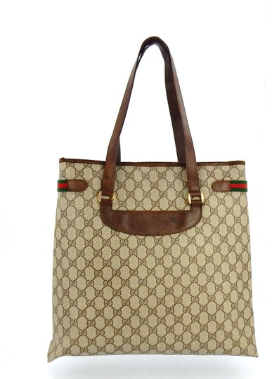 Gucci Shopper Monogram Italy Vintage Gg Shoulder Bag Image 3