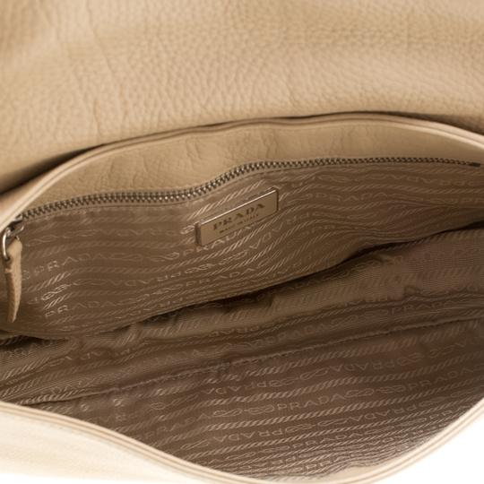 Prada Leather Nylon Shoulder Bag Image 9