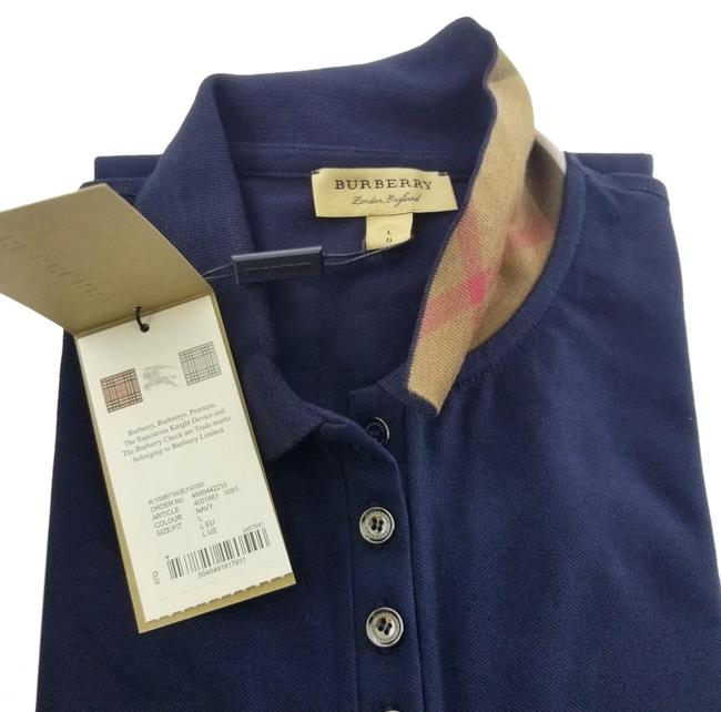 Preload https://item4.tradesy.com/images/burberry-navy-blue-ladies-pique-check-collar-tee-shirt-size-12-l-26020853-0-2.jpg?width=400&height=650