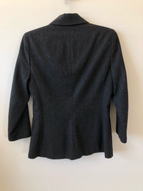 The Row Helmut Lang Victoria Beckham Chanel Burberry Theory Gray Blazer Image 1