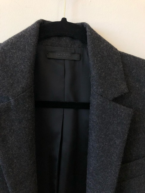 The Row Helmut Lang Victoria Beckham Chanel Burberry Theory Gray Blazer Image 2