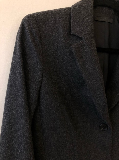 The Row Helmut Lang Victoria Beckham Chanel Burberry Theory Gray Blazer Image 3