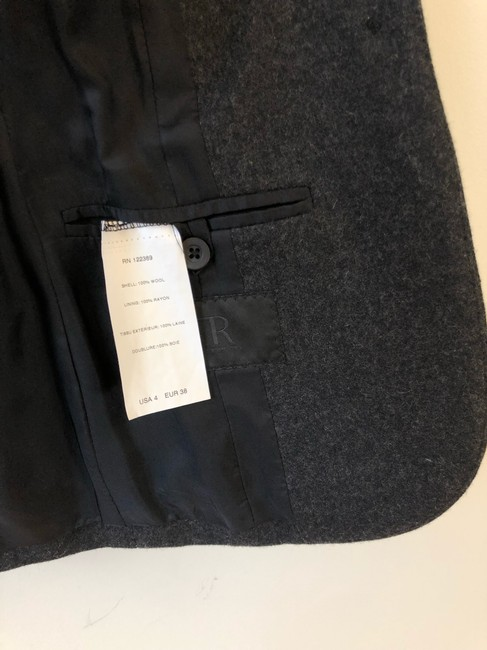 The Row Helmut Lang Victoria Beckham Chanel Burberry Theory Gray Blazer Image 4