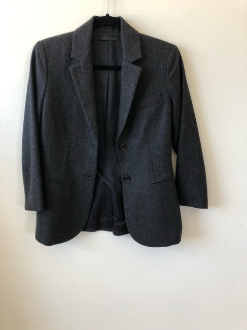 The Row Helmut Lang Victoria Beckham Chanel Burberry Theory Gray Blazer Image 5