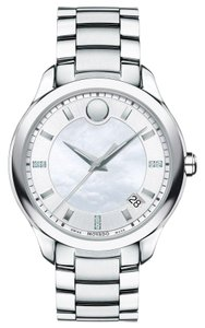 Movado Bellina Stainless Steel Mother of Pearl Diamond 0606978