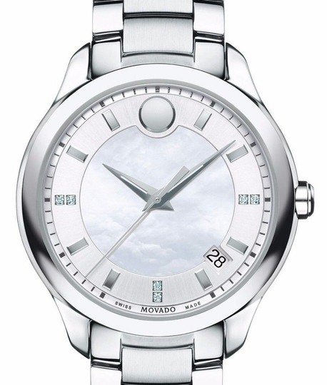 Movado Bellina Stainless Steel Mother of Pearl Diamond 0606978 Image 3