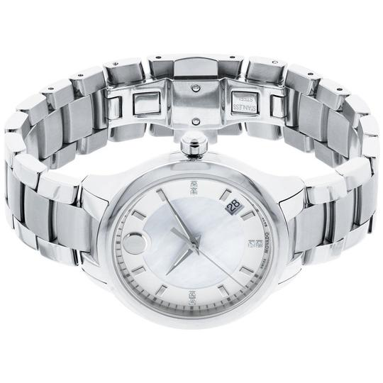 Movado Bellina Stainless Steel Mother of Pearl Diamond 0606978 Image 5