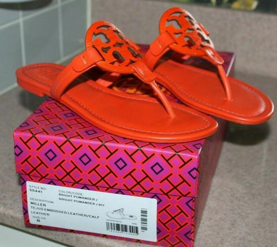 Tory Burch Miller Logo red Sandals Image 4