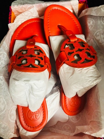 Tory Burch Miller Logo red Sandals Image 5
