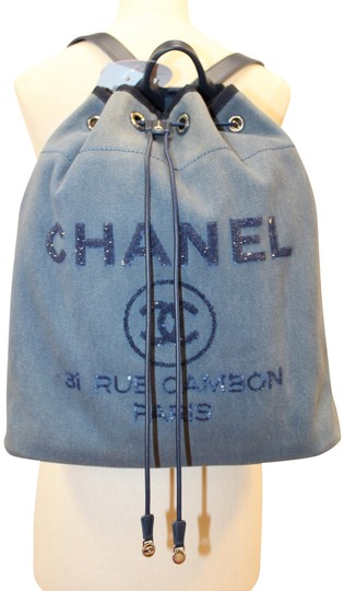 Preload https://img-static.tradesy.com/item/26020928/chanel-deauville-canvas-sequin-large-blue-denim-backpack-0-1-540-540.jpg