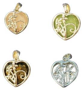 Unknown 6-in-1 Color Change Pendant in Sterling Silver - Flowers & Bamboo