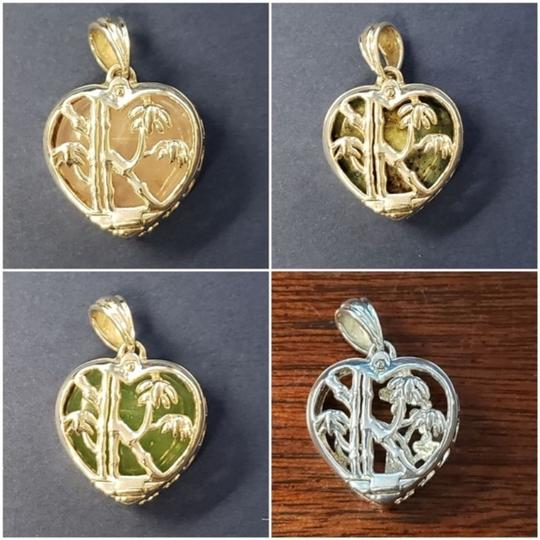 Unknown 6-in-1 Color Change Pendant in Sterling Silver - Flowers & Bamboo Image 1