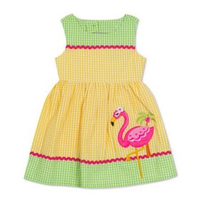 Rare Editions short dress yellow/green/hot pink/ SIZE 3/6 Months on Tradesy
