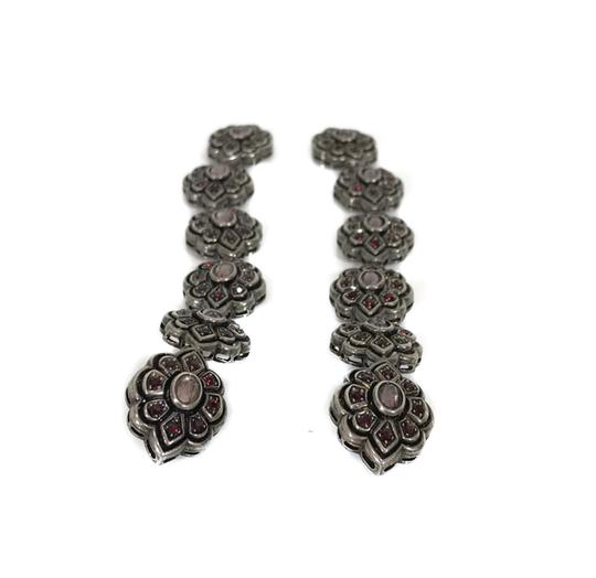 Gucci NEW GUCCI 404823 Extra Long Swarovski Crystals Earrings Image 2