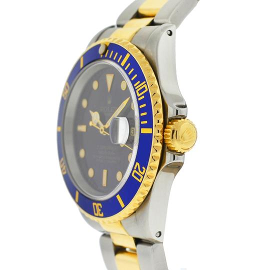 Rolex Rolex Two Tone Submariner 16613 Blue Dial Yellow Gold Watch Image 1