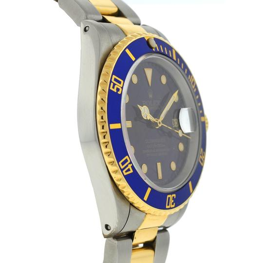 Rolex Rolex Two Tone Submariner 16613 Blue Dial Yellow Gold Watch Image 2
