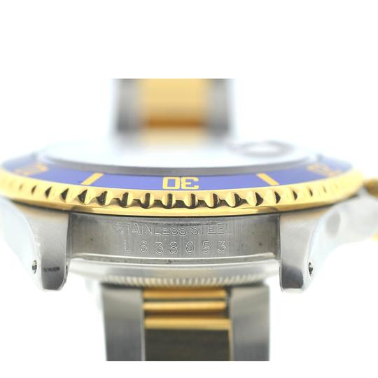Rolex Rolex Two Tone Submariner 16613 Blue Dial Yellow Gold Watch Image 7