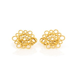 BUCCELLATI Buccellati Vintage 18K Yellow Gold Circles Earrings