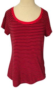 Anthropologie T Shirt red and blue