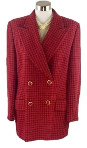 Escada Black Gold Red Blazer