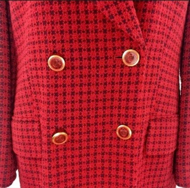 Escada Black Gold Red Blazer Image 2