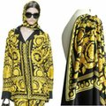 VERSACE PANEL FABRIC 181/57inch for Sewing clothing Versace 2 panels Large size 70% Polyester 20% Silk 10% Twill Mixed Fabric ! Image 0