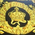 VERSACE PANEL FABRIC 181/57inch for Sewing clothing Versace 2 panels Large size 70% Polyester 20% Silk 10% Twill Mixed Fabric ! Image 2