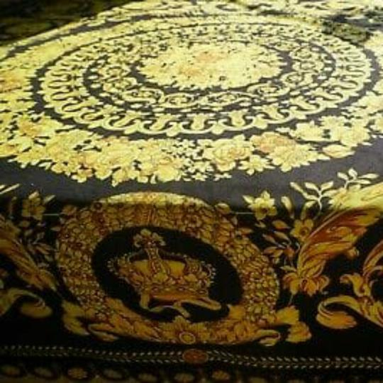 VERSACE PANEL FABRIC 181/57inch for Sewing clothing Versace 2 panels Large size 70% Polyester 20% Silk 10% Twill Mixed Fabric ! Image 4