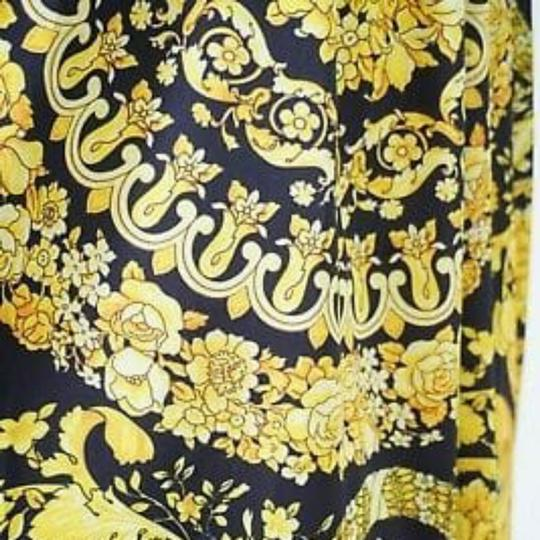 VERSACE PANEL FABRIC 181/57inch for Sewing clothing Versace 2 panels Large size 70% Polyester 20% Silk 10% Twill Mixed Fabric ! Image 5