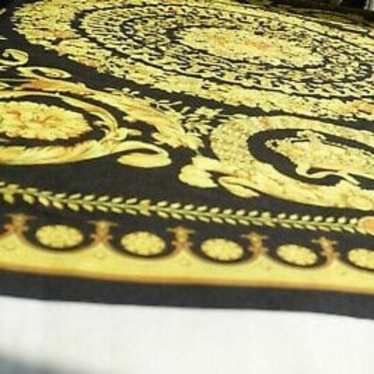VERSACE PANEL FABRIC 181/57inch for Sewing clothing Versace 2 panels Large size 70% Polyester 20% Silk 10% Twill Mixed Fabric ! Image 8